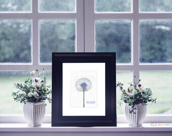 "Dandelion Wish - 5"" x 7"" HD Digital Print"