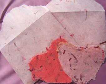 Hand Made Paper Heart with Matching Handmade Envelope-PM#2 09