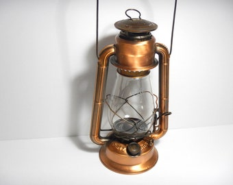 Dietz No.20 Junior Kerosene Lantern Antiqued Copper Finish Oil Lamp Clear Globe