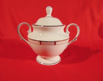 One (1), Vintage, Sugar Bowl with Lid, from Lenox in the High Society Pattern. New / Old Stock