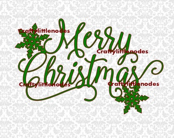 Merry Christmas Snowflake SVG STUDIO Ai EPS Scalable Vector Instant Download Commercial use Cutting File Cricut Silhouette