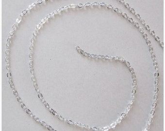 Chain mesh oval Silver - 50cm