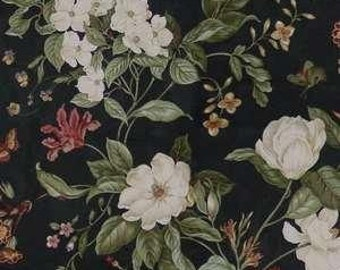Garden Images color Black  Williamsburg Jacquard Printed Decorative Fabric