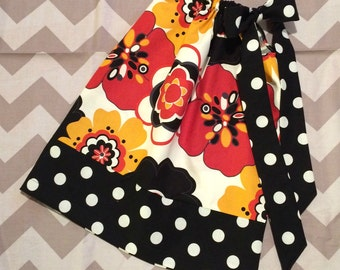 Girls Pillowcase Dress - Alexander Henry Kleo - Pick your size 18 24 months 2 3 4 5 6 7 8 9 10 years - Large floral polka dots