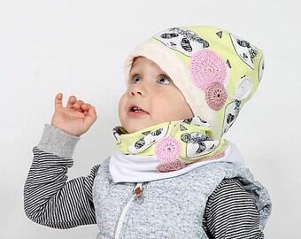unique children set (HAT & NECK WARMER)