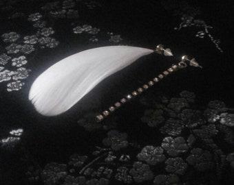 """Minimalist earring """"Ophélie ..."""" sleek line, women's jewelry, jewelry gifts ..."""