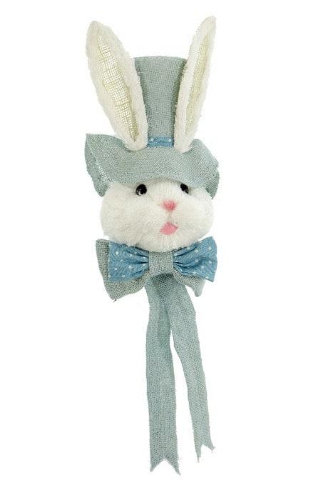 25 Bunny Head W Blue Top Hat Amp Bow Tie Wreath