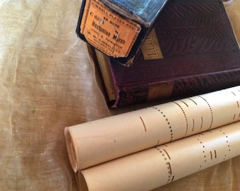 Vintage Player Piano Sheet Music - Perfect for Journaling - Junk Journal Pages
