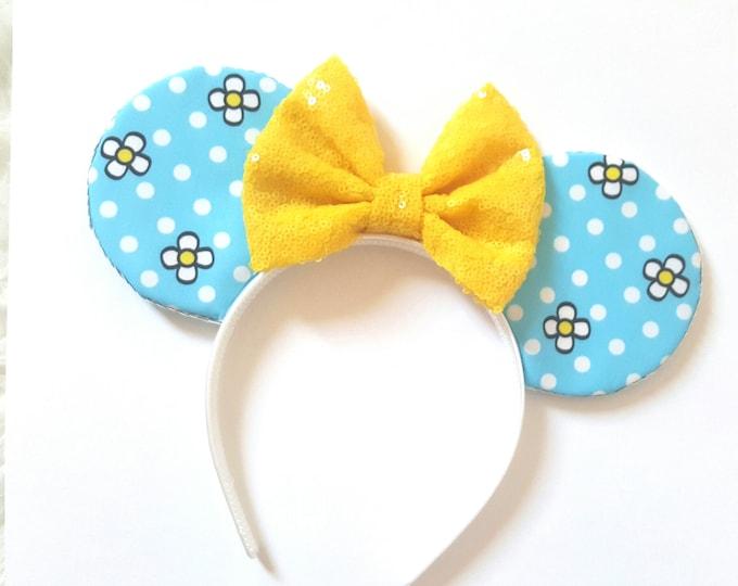 Minnie Mouse || Mouse Ears || Minnie Ears || Polka Dot Ears || Mouse Ears Headband || Minnie Mouse Ears || Sparkle Mouse Ears || RTS