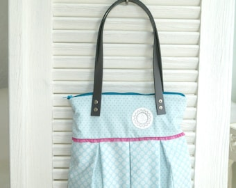 romantic bag with leather handles