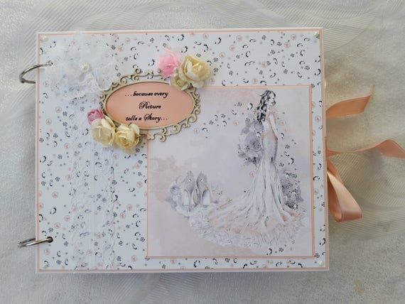 Custom scrapbook album photo memory book wedding keepsake m4hsunfo