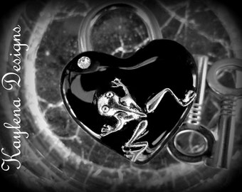 Heart Lock Frog heart  lock, BDSM Lock, lock and key, Lucky Charms