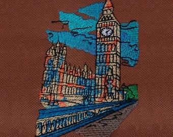 Artistic Big Ben Digital Embroidery Design