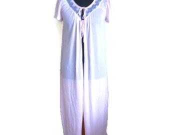 Vintage Sheer Robe Long Lingerie Jacket Robe Maxi Lingerie Romantic Dressing Gown See Through Vintage Medium