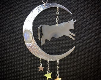 The Cow That Jumped Over The Moon Necklace