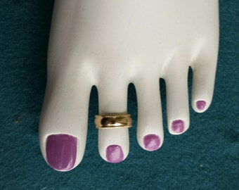 Toe Ring Gold Filled adjustable