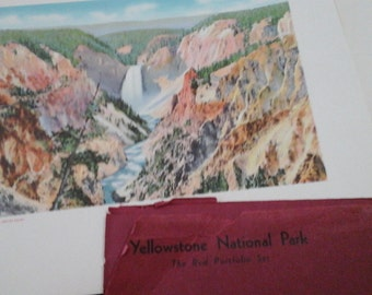 Yellowstone 1938 photography by Haynes 12 prints The Red Portfolio Antique photos