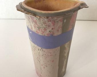 Joani Inglett Porcelian Slip Cast Vase, Purple