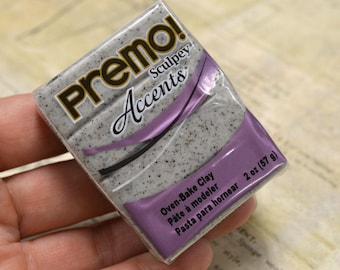 Grey Granite Polymer Clay Premo! Sculpey™ Accents® Polyclay Resin Making Mold 2 oz. Bar