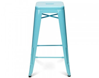 """Custom Painted Tolix Style Stool in the Color of your Choice 30"""" Bar Height"""