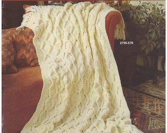 Crochet Pattern, Knit Pattern, Crochet Afghan Pattern, Knit Blanket Pattern