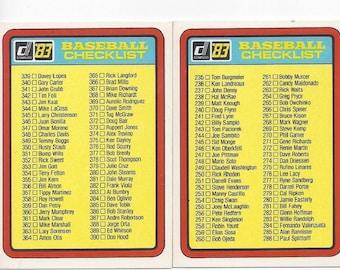 Donruss baseball 3 and 4 checklist , Baseball checklist ,1983 Baseball check list ,Trading cards ,Trading cards checklist