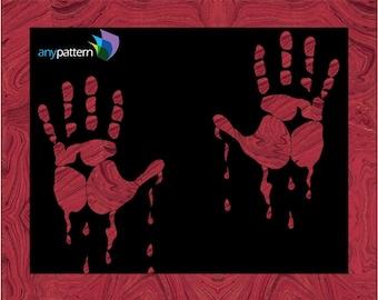 Halloween-Bloody Hands Applique Quilt Pattern