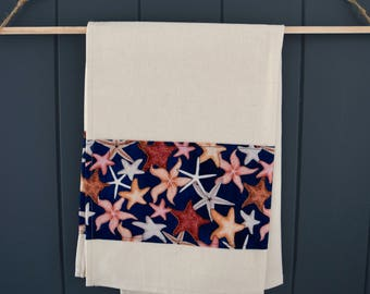 Hemp and Organic Cotton Tea Towel with Starfish