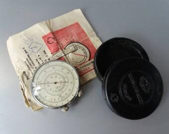 Logarithmic Circle Rule in Original Case Vintage Measuring Tool Logarithmic Ruler Old Ruler Industrial Measuring Tool Circular Slide Ruler