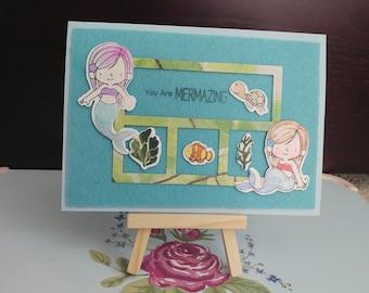 Luxury mermaid card | Valentine's card | Birthday card | Love | Mothers day card | Daughter | Sister | Mum