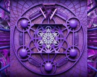 LIGHT WIZARD - Metatron - Photo Print - Artwork - Visionary Art - Fine Art - Photographic - Original - Spiritual - Psy - Art