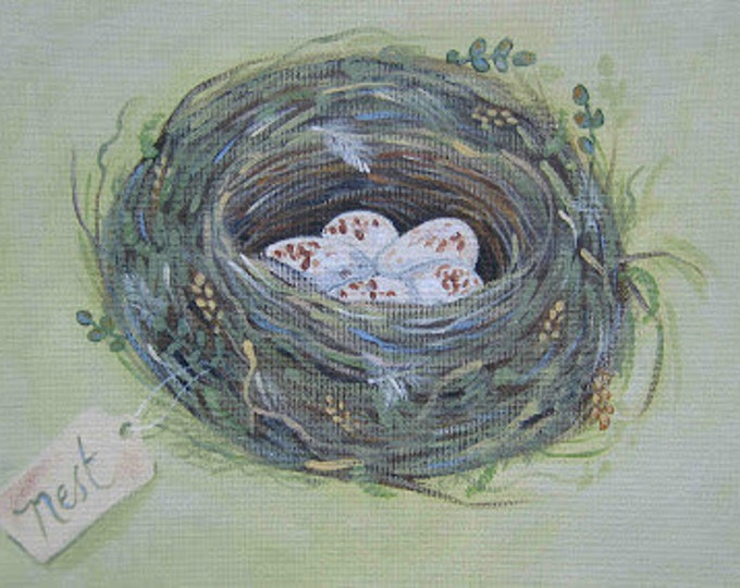 Mossy nest blank greeting card