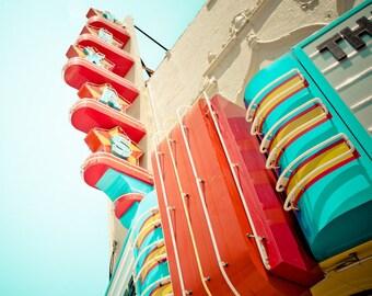 Dallas Texas - Neon Sign - Vintage - Retro - Fine Art Photograph - Texas Theater