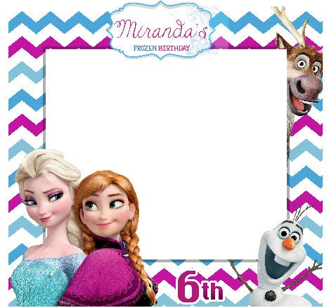 Large Custom Birthday Frames Frozen Photo booth Frame