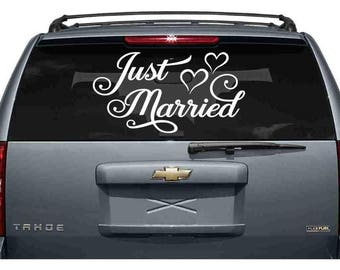 Just Married Car Decal, Just Married Sign for Car, Getaway Car Sign, Wedding Car Decoration, Just Married Car Banner - Various Sizes DIY