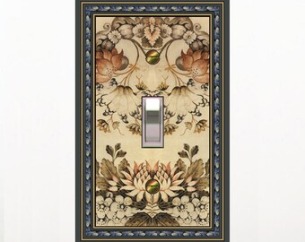 choose sizes / prices from drop down box1616x - Floral Silk - mrs butler switch plate covers - choose sizes / prices from drop down box