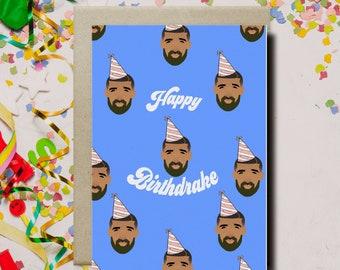 "Drake Birthday Card ""Happy Birthdrake"" Funny Birthday Card, Drake Card, Hip Hop Card, Drake Gift, Pop Culture Card"