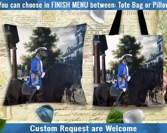 Spanish Greyhound Galgo Art Pillow or Tote Bag/Galgo/Dog Tote Bag/Dog Pillow/Dog Art/Custom Dog Portrait