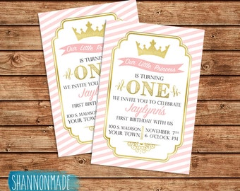 Our Little Princess First Birthday Party Invitation