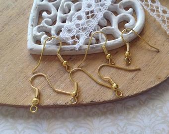 100 hooks 18 mm gold tone earrings