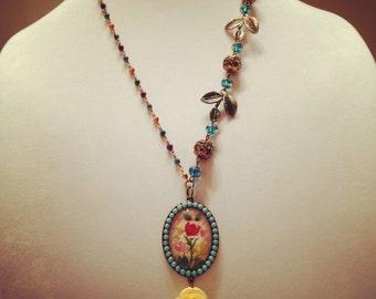 Romantic Spring Floral Necklace