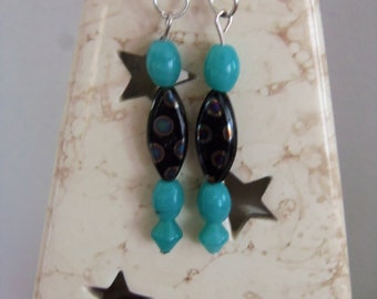 Simply Summer Earrings, Shades of Blue and Jade