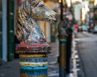 New Orleans Hitching Post - NOLA Decor - Travel Photography