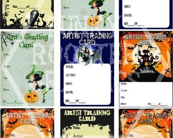 Halloween ATC backs Vertical (digital download)
