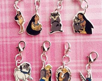 Pocahontas Charm Bracelet - Pocahontas Charm Bracelet - Pocahontas Bracelet Charm - Pocahontas Charm - Meeko Charm - Percy Charm - Flit