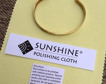 Sunshine Cleaning Cloth for Jewelry Polishing . Tarnish Remover . Tatum Bradley & Company