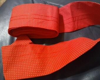 Ruffle 3 inches wide Red Poka Dot 3 3/4 yards