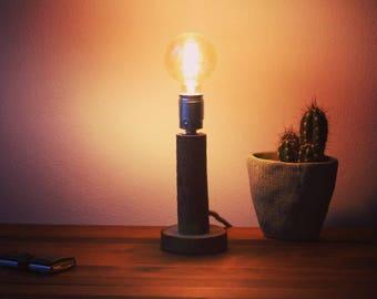 "Wood lamp, ""Willow One"", desk lamp, night lamp, lighting, industrial lighting, handmade, (including Led Filament!)"