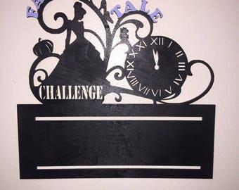 Princess half marathon (Fairy Tale / Glass Slipper Challenge) medal display rundisney