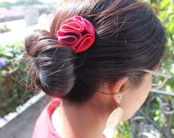 Handmade Flower Felt Hair Clips